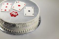 Lycklig kaka för födelsedag 70 Fotografering för Bildbyråer