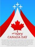 lycklig Kanada dag vektor illustrationer