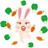 lycklig kanin vektor illustrationer