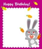 lycklig kanin för födelsedagram stock illustrationer