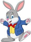 lycklig kanin för tecknad film stock illustrationer