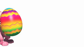 Lycklig kanin med det färgrika ägget stock illustrationer