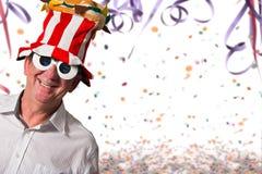 lycklig karneval arkivbilder