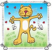 lycklig katt Fotografering för Bildbyråer