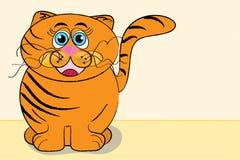 lycklig katt royaltyfri illustrationer