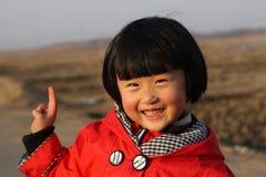 lycklig kinesisk flicka Arkivbilder