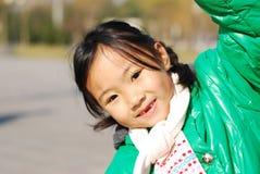lycklig kinesisk flicka little Royaltyfri Fotografi