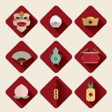 Lycklig kinesisk symbolsuppsättning för nytt år 2017 Arkivbild