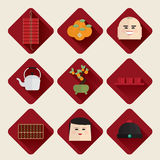 Lycklig kinesisk symbolsuppsättning för nytt år 2017 Arkivbilder