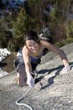 lycklig klättrare royaltyfria foton