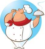 Lycklig kock Magnifico! stock illustrationer