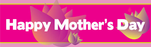 Lycklig konst för gem för baner för dag för moder` s Arkivbilder