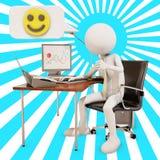 lycklig kontorsarbetare vektor illustrationer