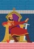 lycklig konung Arkivfoton