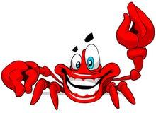 lycklig krabba Arkivbilder
