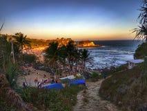 Lycklig Krakal strand arkivbilder