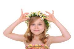 lycklig kran för tusenskönaflicka Royaltyfria Bilder