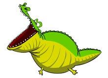 lycklig krokodil Stock Illustrationer