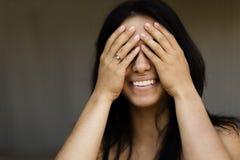 Lycklig kvinna royaltyfria foton
