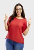 lycklig kvinna arkivfoto