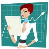 lycklig kvinna för affär vektor illustrationer