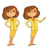 lycklig kvinna för affär stock illustrationer