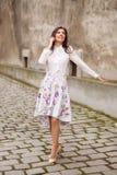 lycklig kvinna för affär Royaltyfri Foto