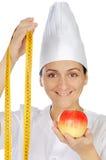 lycklig kvinna för attraktiv kock Arkivbilder