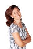 Lycklig kvinna i 30-tal Royaltyfri Bild