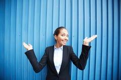 Lycklig kvinnlig Fotografering för Bildbyråer