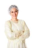 lycklig läkarundersökning för assistent Royaltyfri Bild