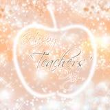 Lycklig lärare`-dag stock illustrationer