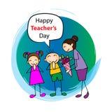 Lycklig läraredag vektor illustrationer