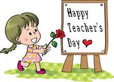 Lycklig läraredag Arkivbilder