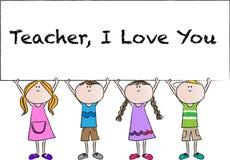Lycklig läraredag Royaltyfria Bilder