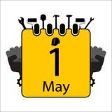 Lycklig Labour dag med kalendern vektor illustrationer