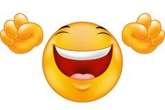 Lycklig le emoticon Arkivfoton