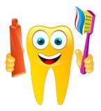 lycklig le tandvektor Vektor Illustrationer