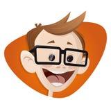 Lycklig le tecknad filmpojke Fotografering för Bildbyråer