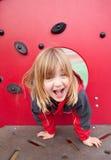 lycklig lekplats för barn Fotografering för Bildbyråer