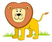 lycklig lion Fotografering för Bildbyråer