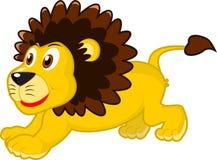 lycklig lion Arkivfoton