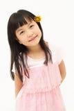 Asiatiska flicka stående Fotografering för Bildbyråer