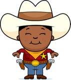 Lycklig liten cowboy stock illustrationer
