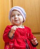 Lycklig liten flicka Arkivbilder