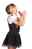 Lycklig liten flicka Fotografering för Bildbyråer