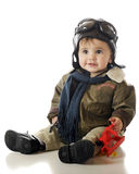 lycklig liten pilot Royaltyfri Fotografi