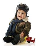 lycklig liten pilot Fotografering för Bildbyråer