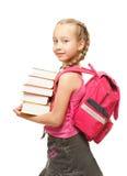 lycklig liten schoolgirl Arkivbild