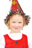 lycklig liten stående för härlig flicka arkivfoton